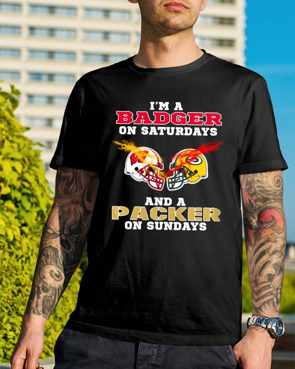 I'm a Badger on Saturdays and a Packer on Sundays shirt