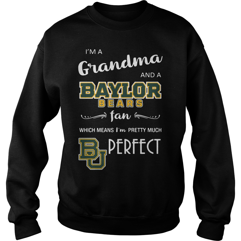 I'm a grandma and a Baylor Bears fan which means I'm pretty Sweater