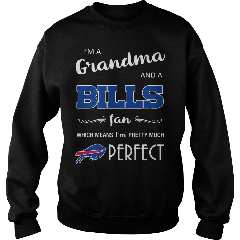 I'm a grandma and a Bills fan which means I'm pretty much perfect Sweater