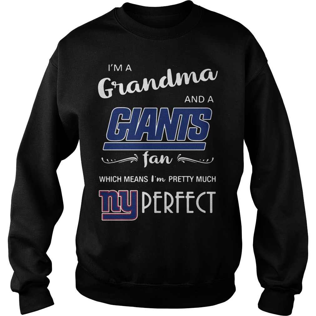 I'm a grandma and a Giants fan which means I'm pretty much perfect Sweater