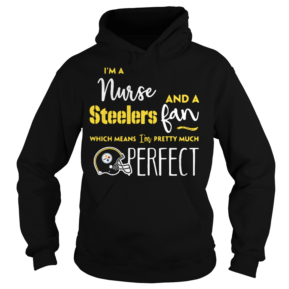 I'm a nurse and a Steelers fan which means I'm pretty much perfect Hoodie