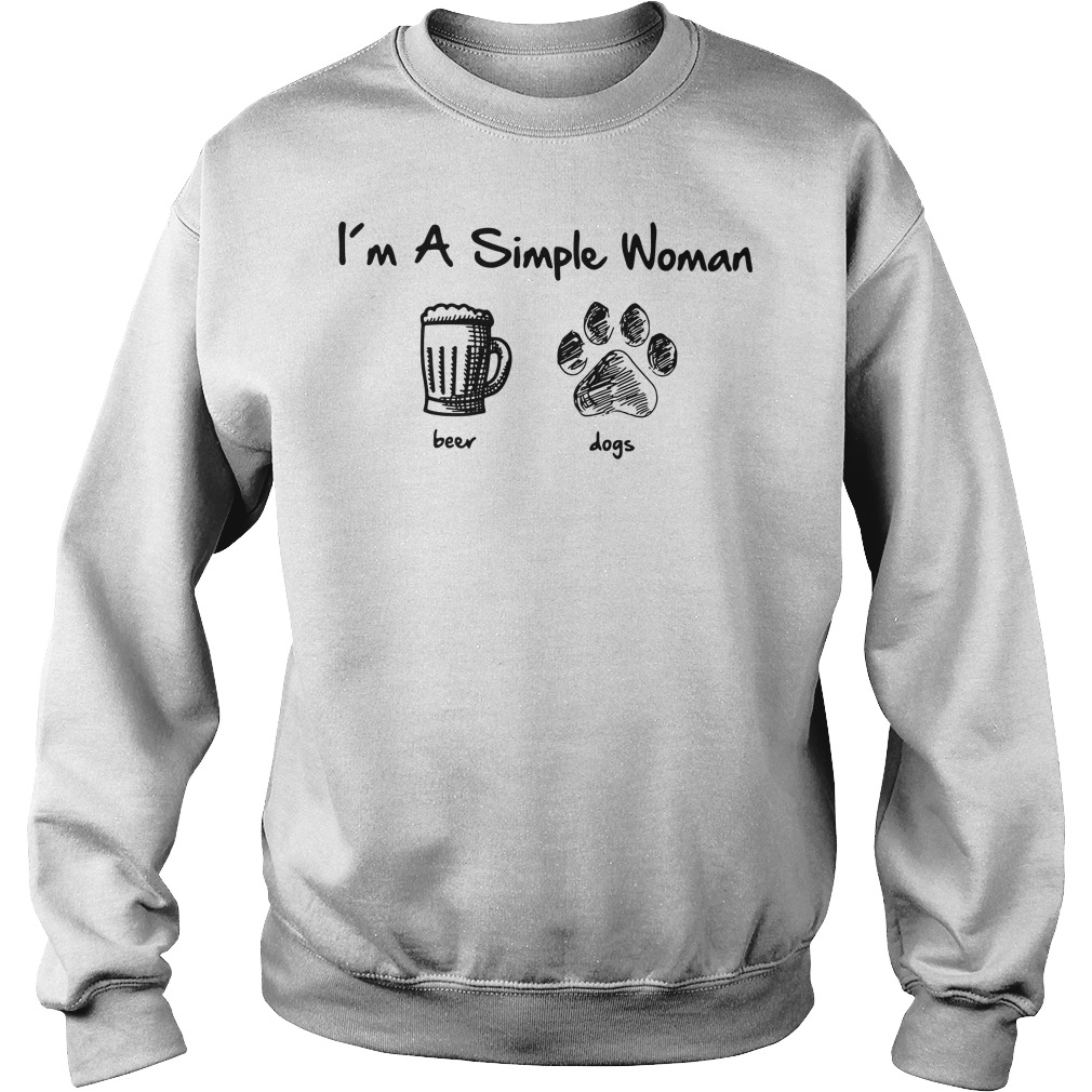 I'm a simple woman I like beer and dog Sweater