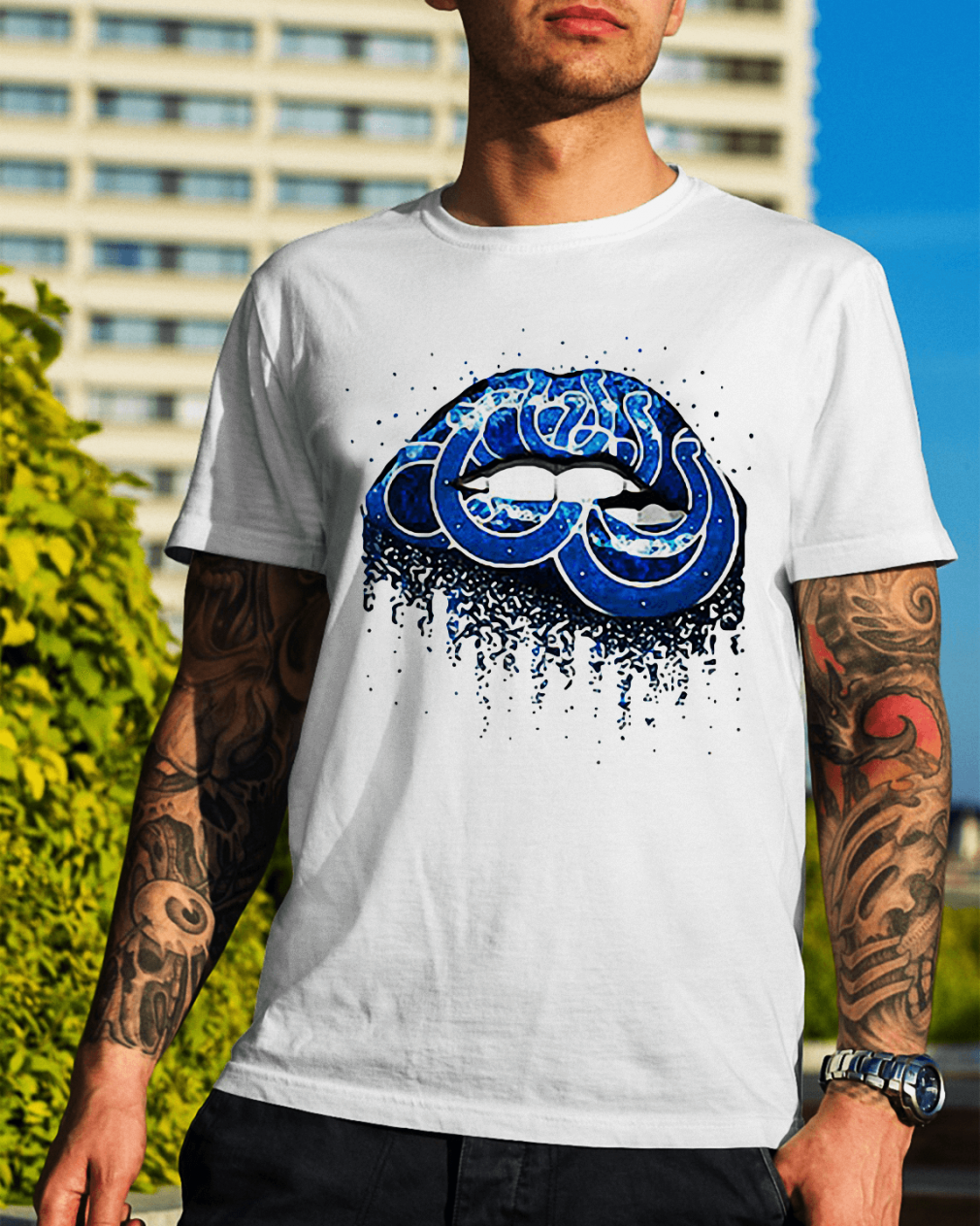 Indianapolis Colts lips shirt