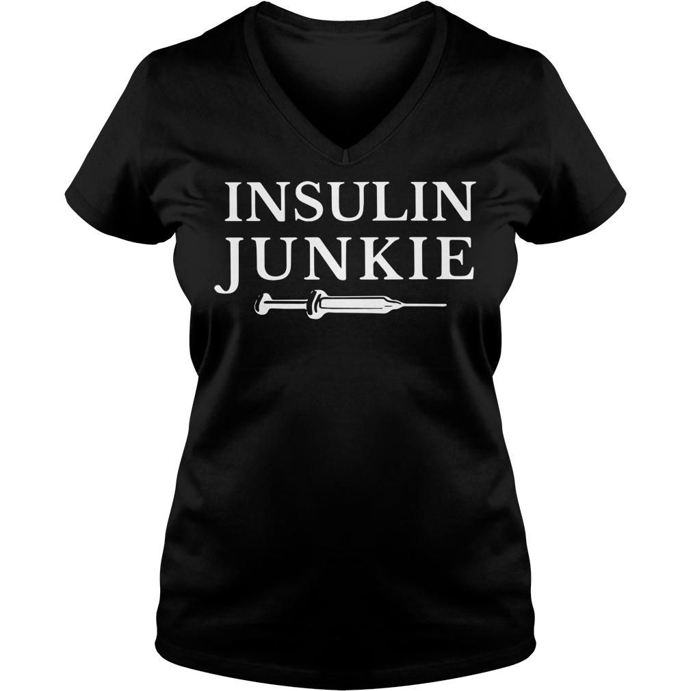 Insulin Junkie V-neck T-shirt