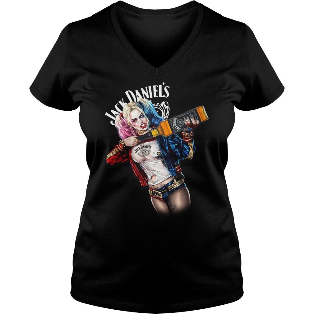 Jack Daniel's Harley Quinn V-neck T-shirt