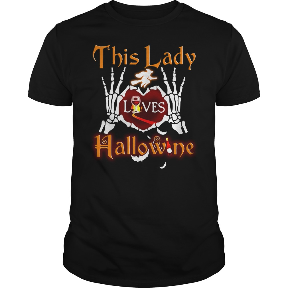 This lady loves Hallowine Guys Shirt