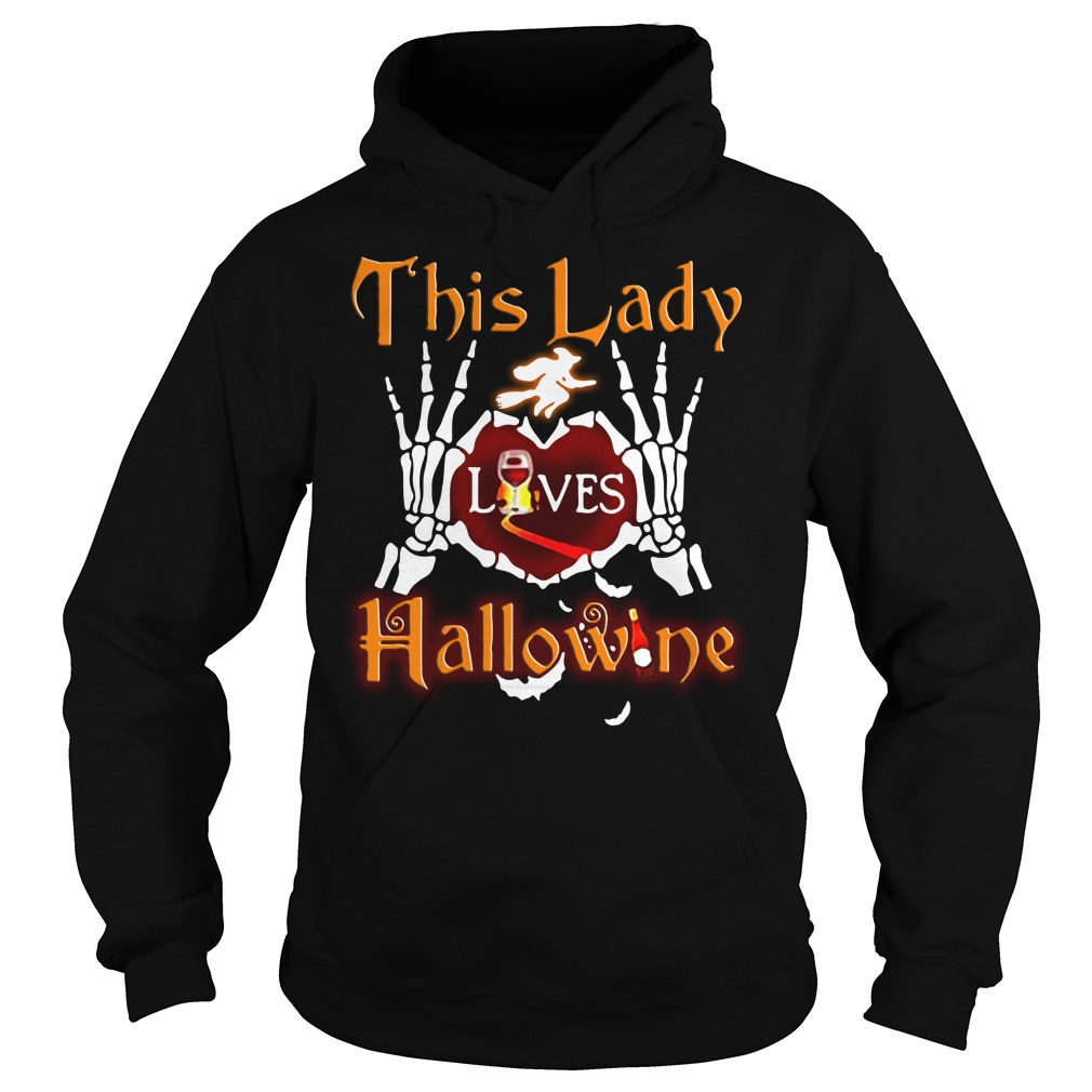 This lady loves Hallowine Hoodie