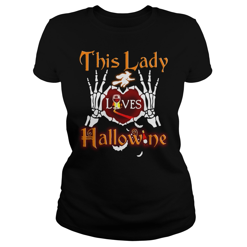 This lady loves Hallowine Ladies Tee