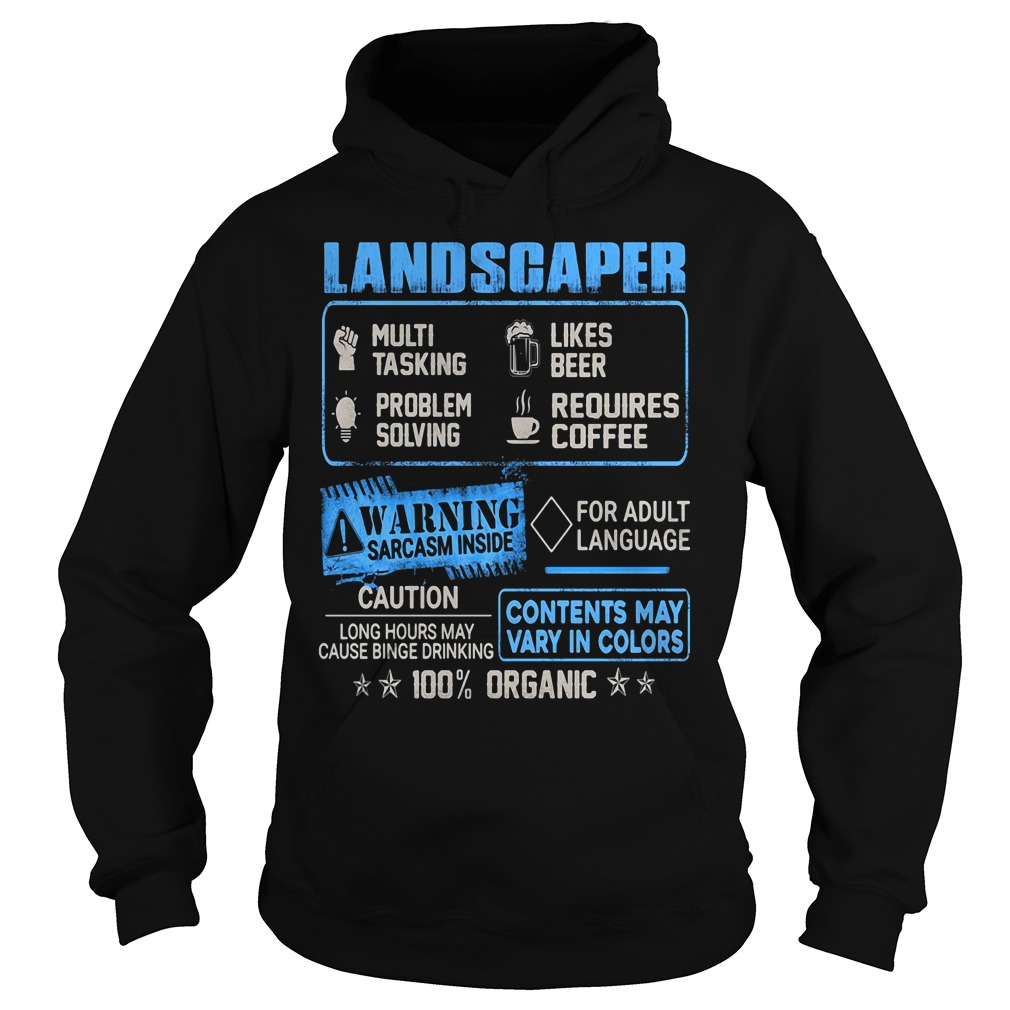 Landscaper multitasking likes beer problem solving requires coffee Hoodie