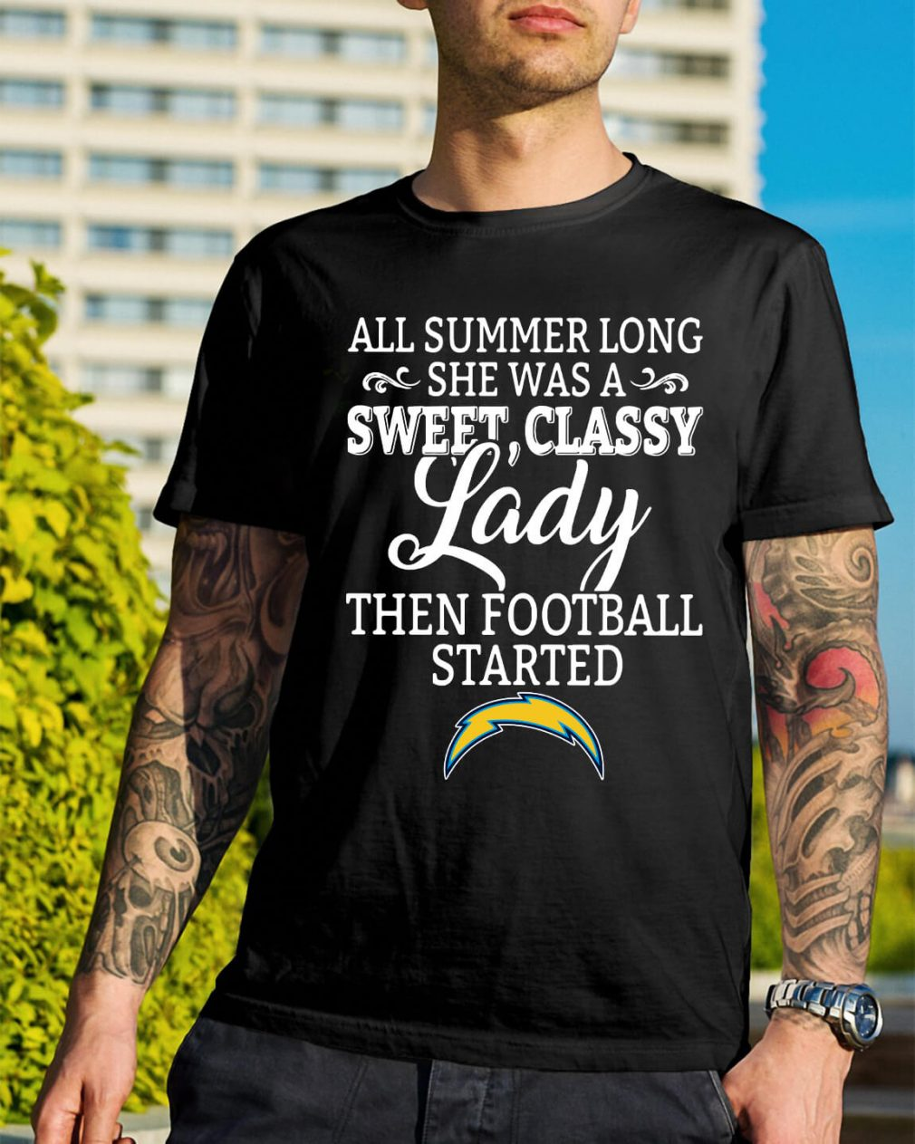 Los Angeles Chargers all summer long she was a sweet shirt