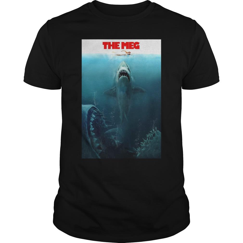 The Meg Jason Statham Shark Movie 2018 Worn Look Guys Shirt