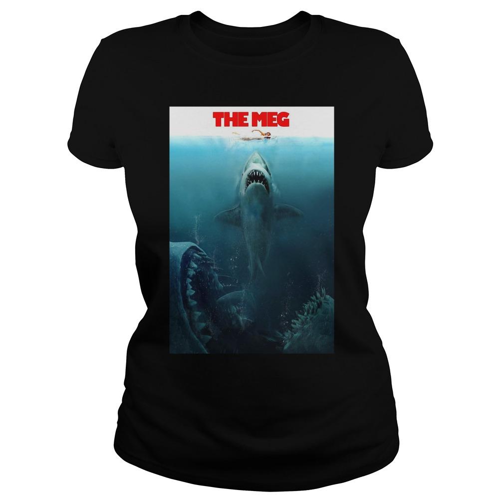 The Meg Jason Statham Shark Movie 2018 Worn Look Ladies Tee