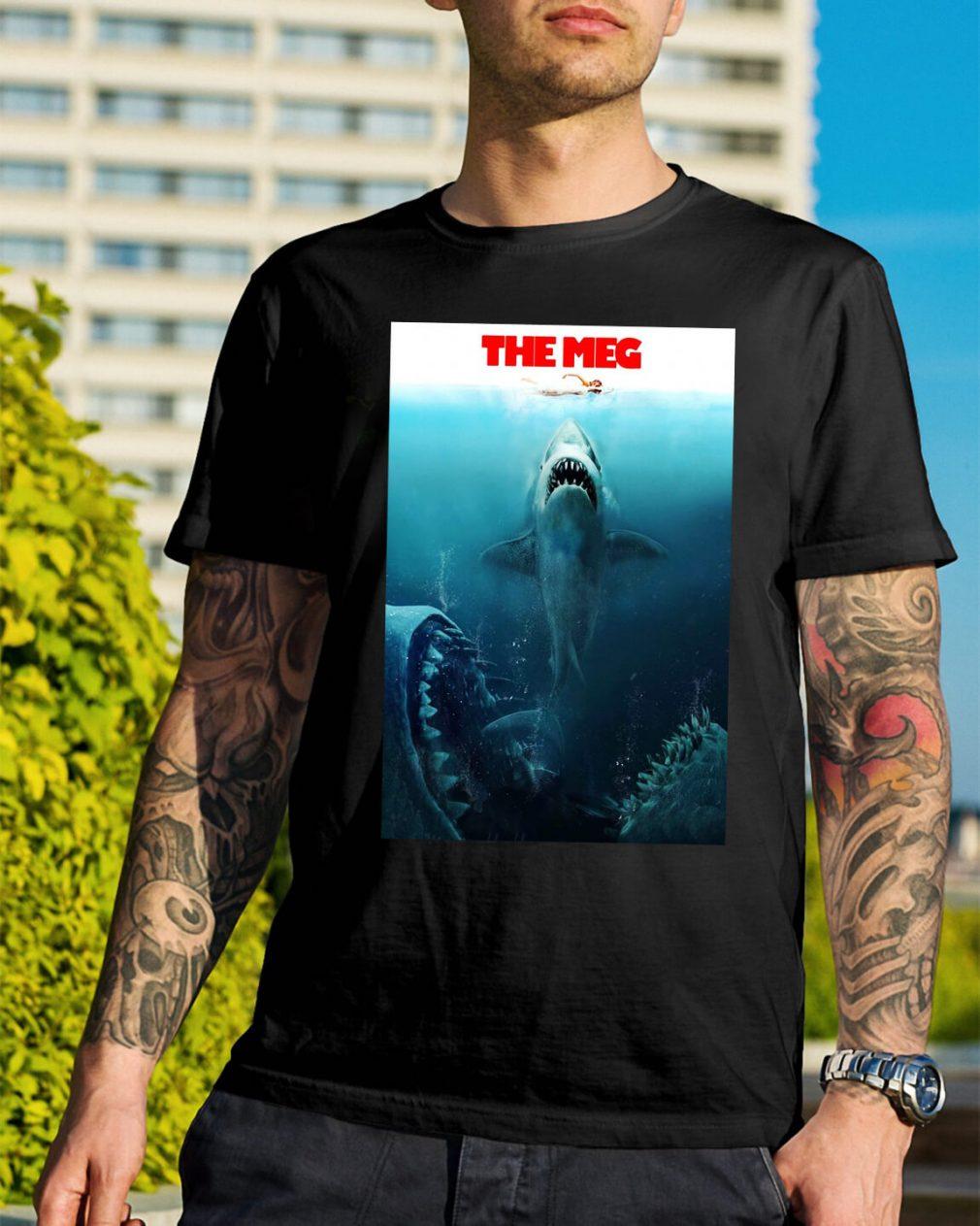 The Meg Jason Statham Shark Movie 2018 Worn Look shirt
