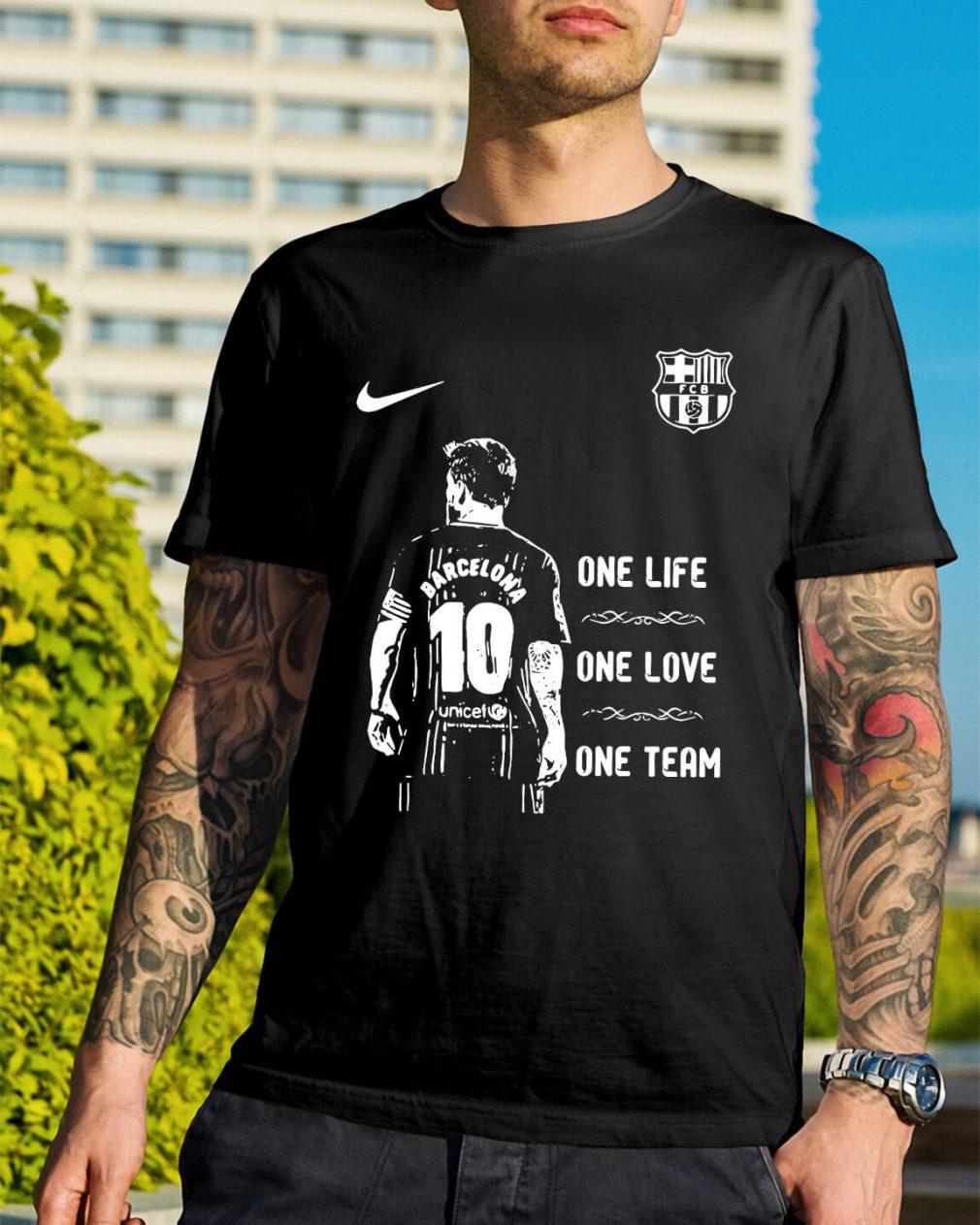 Messi Barcelona 10 one life one love one team shirt