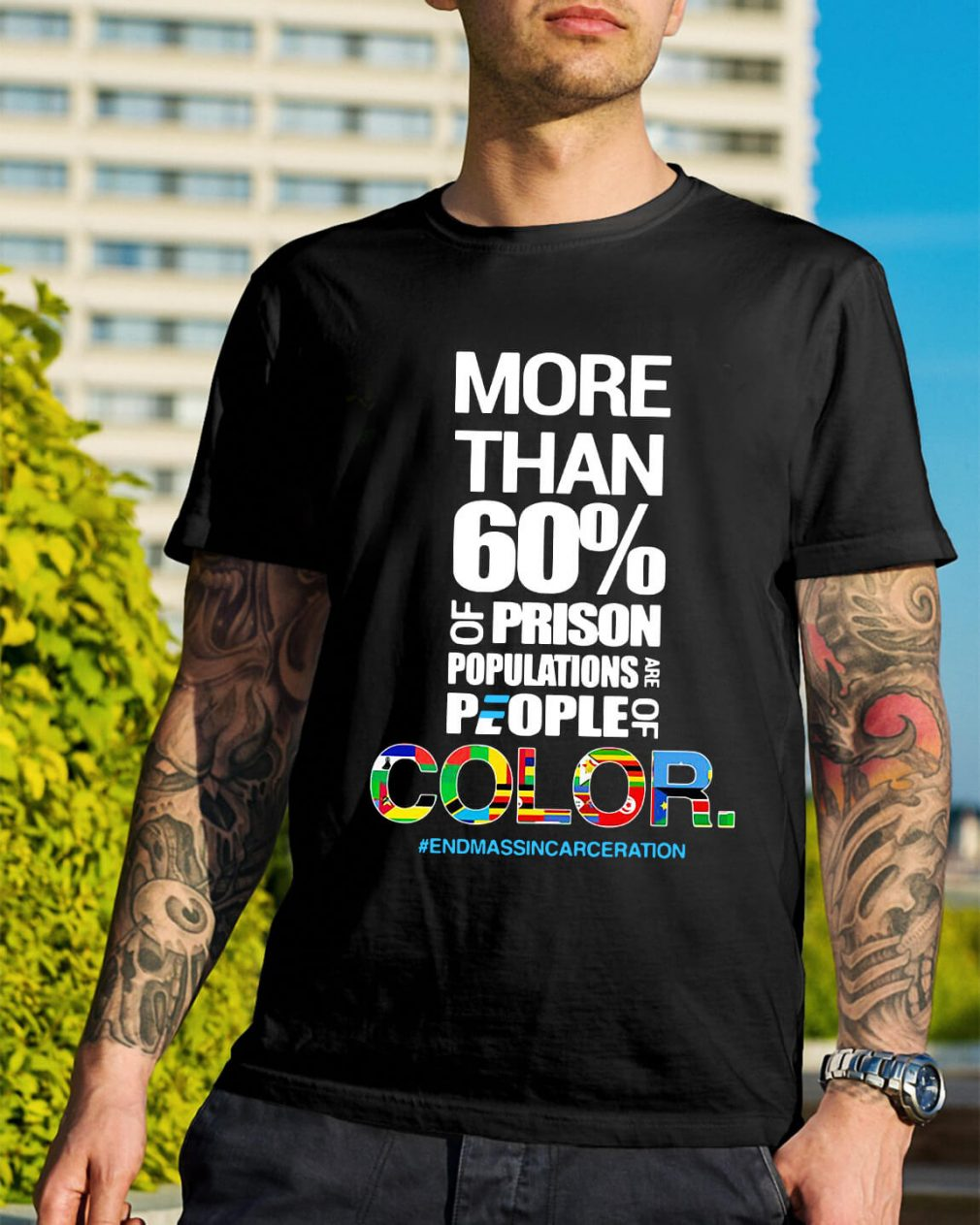 More than 60% of prison populations are people of color shirt