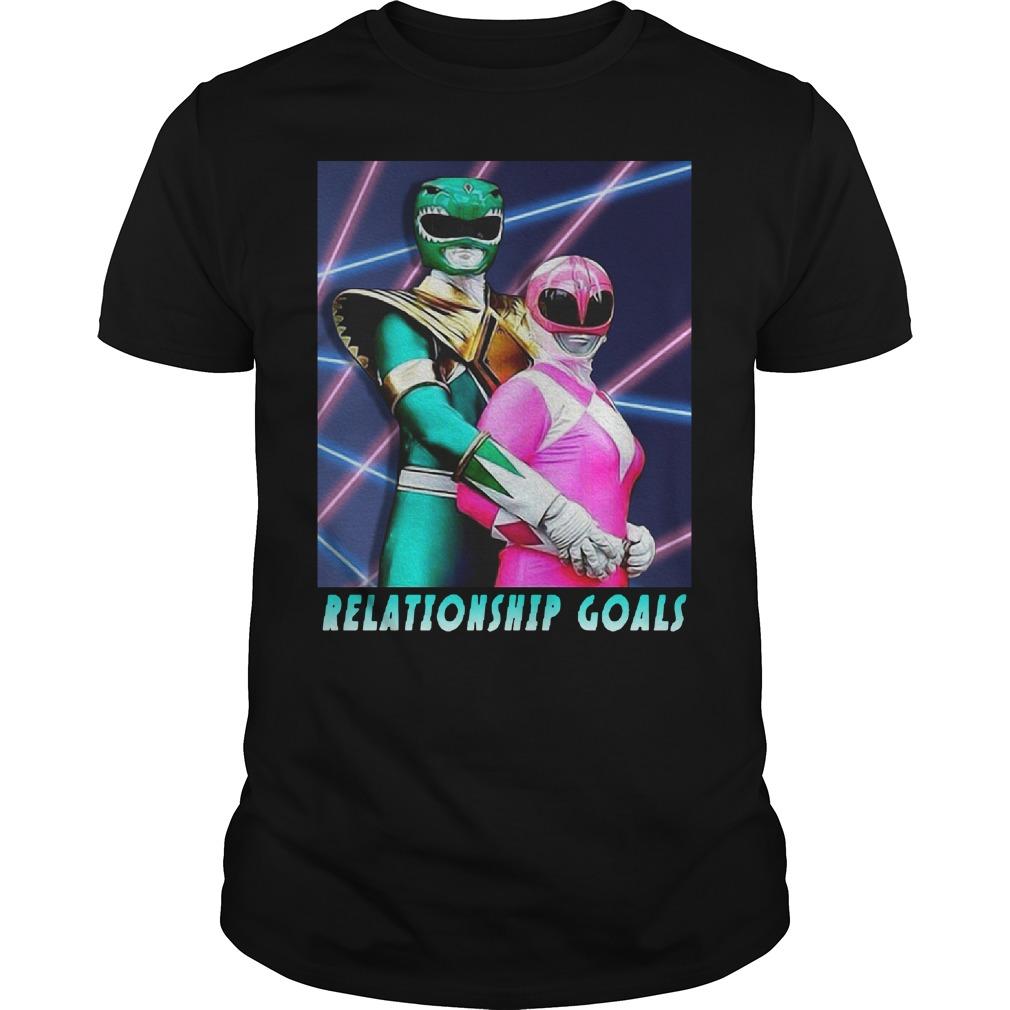 Morphin Power Rangers relationship goals Guys Shirt