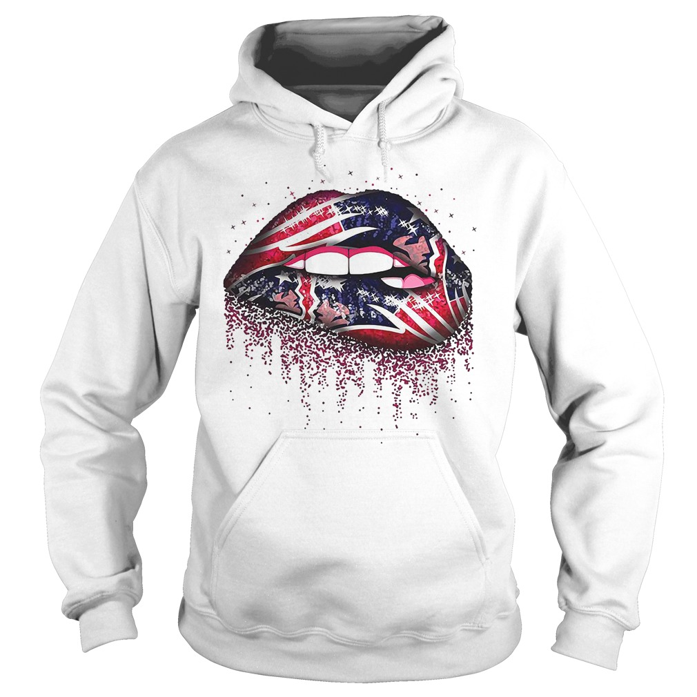 New England Patriots lips Hoodie