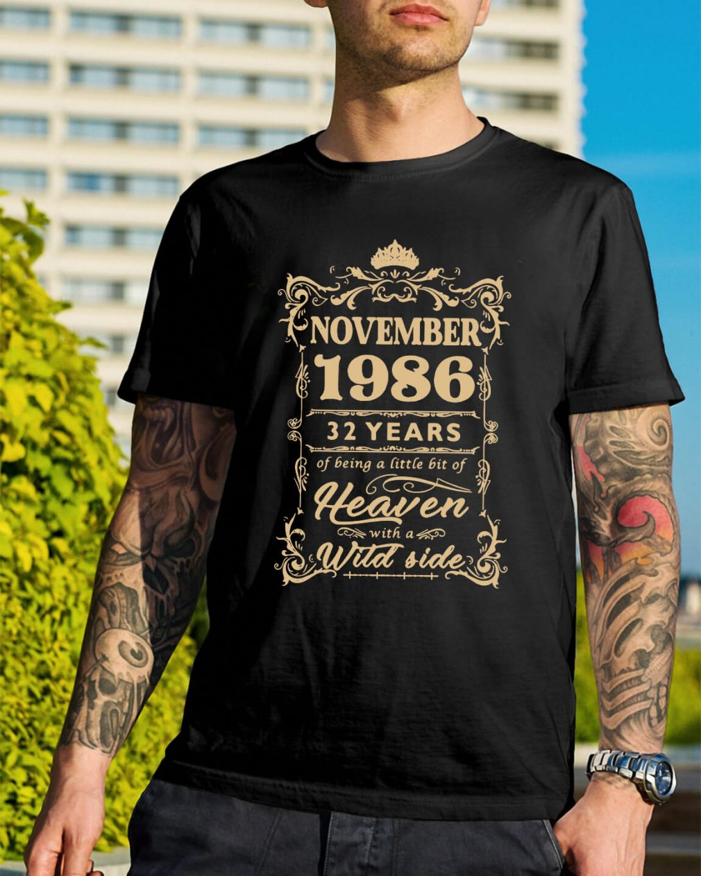 November 1986 32 years of being a little bit of heaven with a wild side shirt