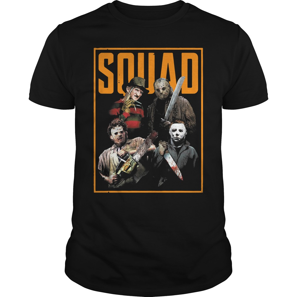 Official The Nightmare Ends on Halloween Squad Guys Shirt