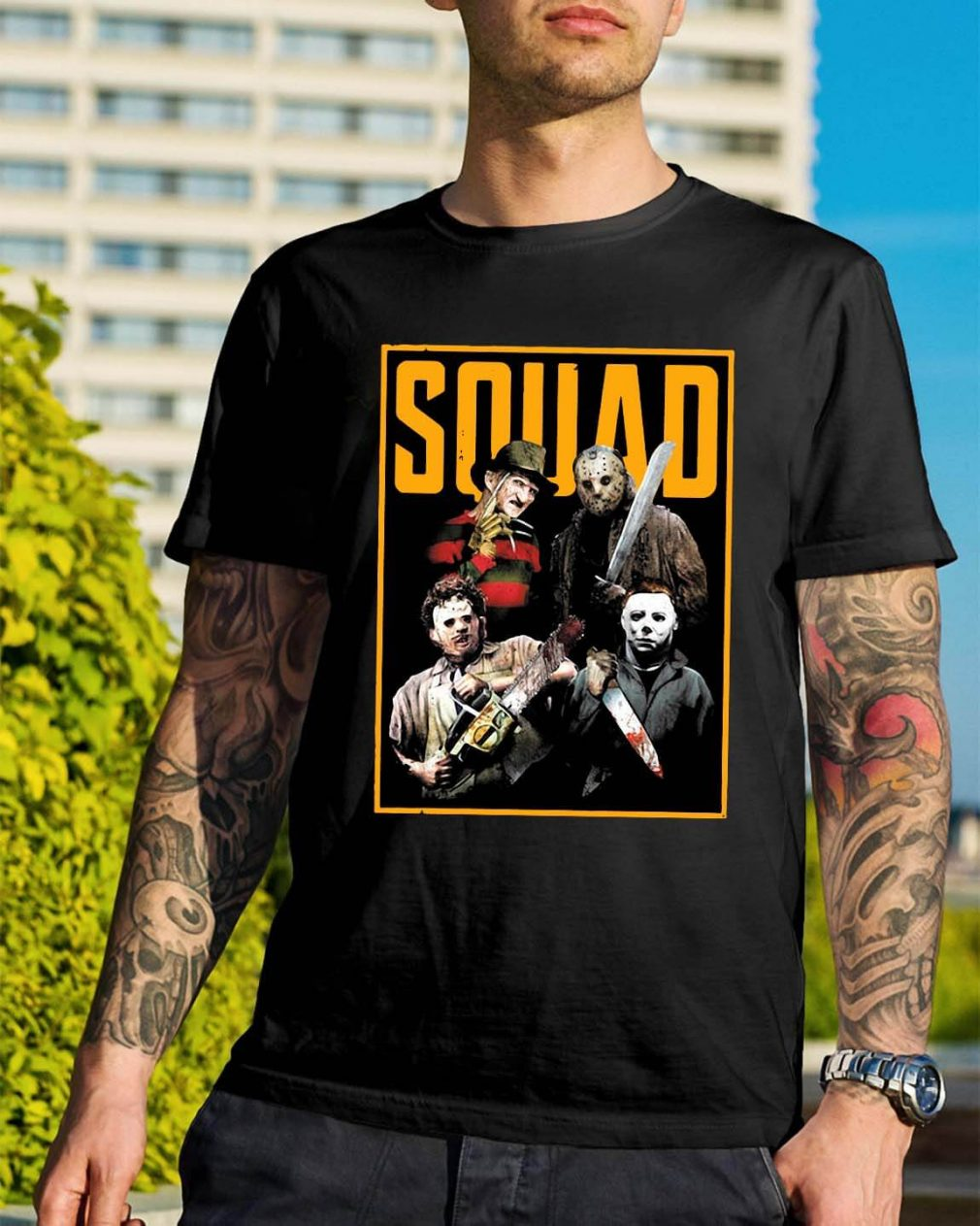 Official The Nightmare Ends on Halloween Squad shirt
