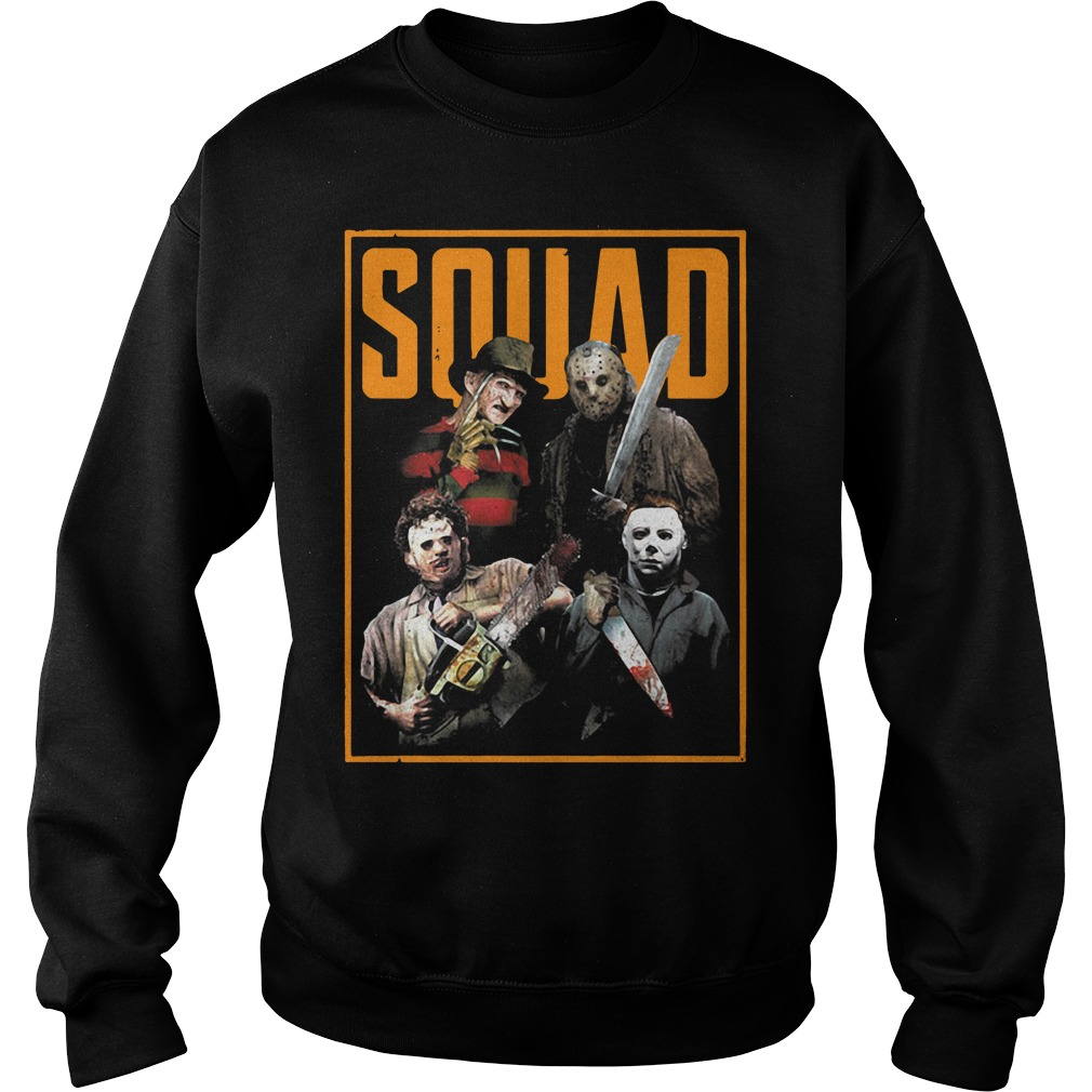 Official The Nightmare Ends on Halloween Squad Sweater