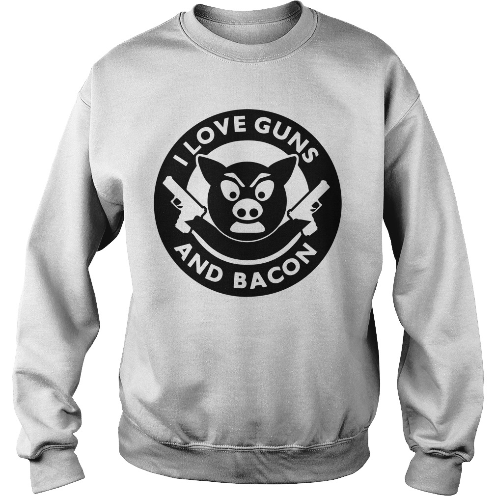 Pig I love guns and bacon Sweater