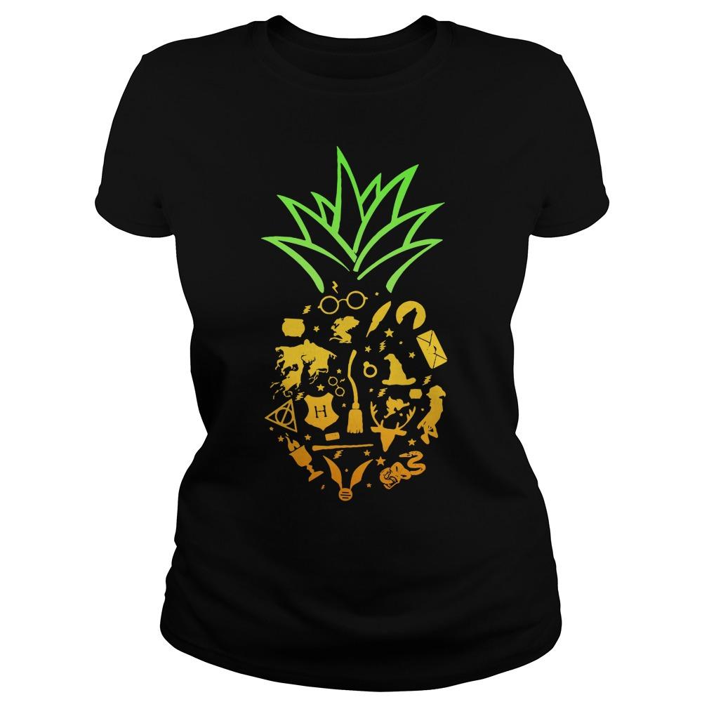 Pineapple halloween brooms Ladies Tee