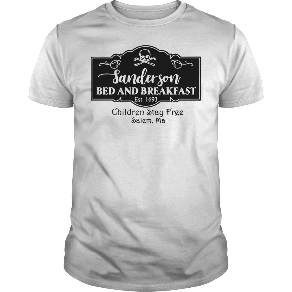 Sanderson bed and breakfast Est 1693 children stay Guys Shirt