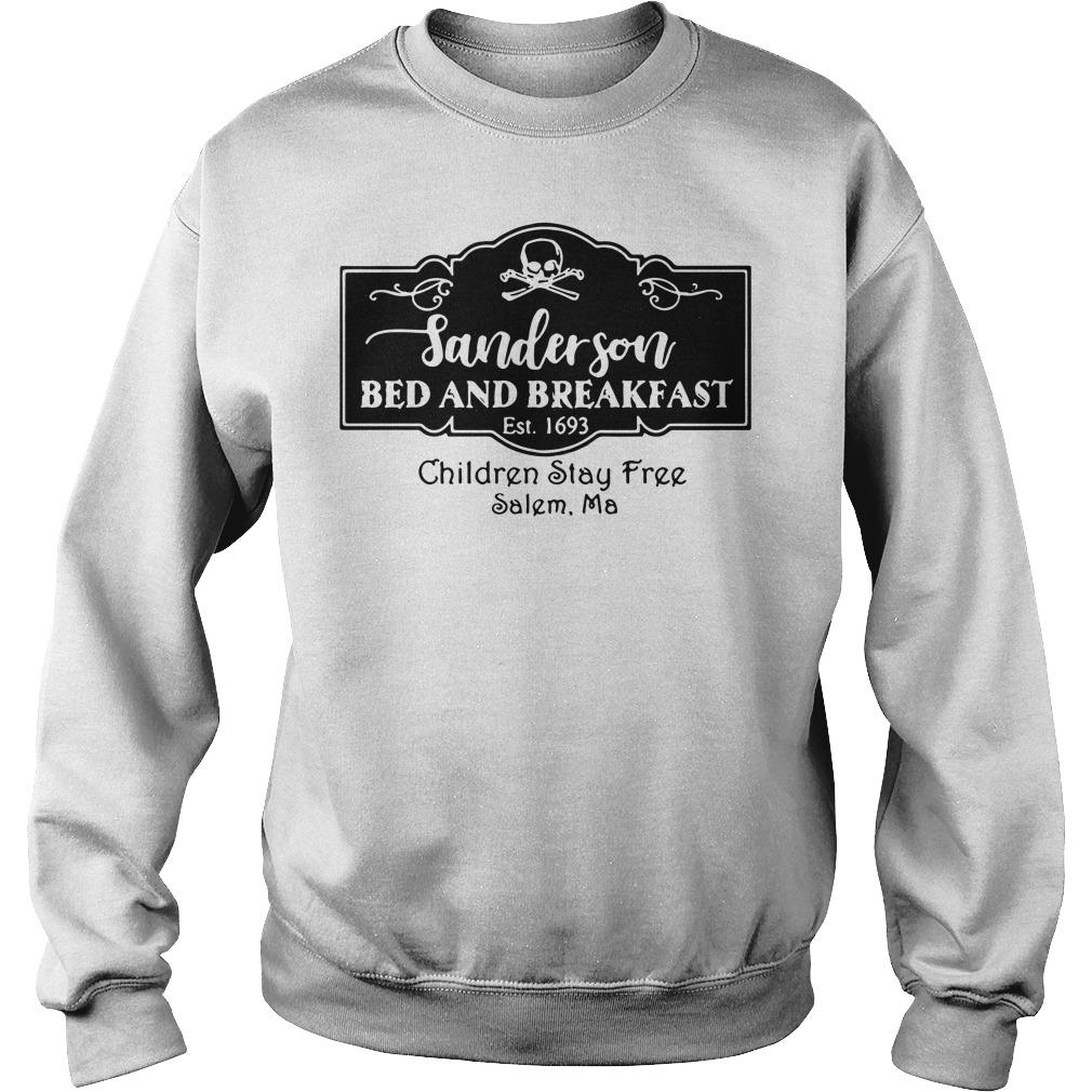 Sanderson bed and breakfast Est 1693 children stay Sweater
