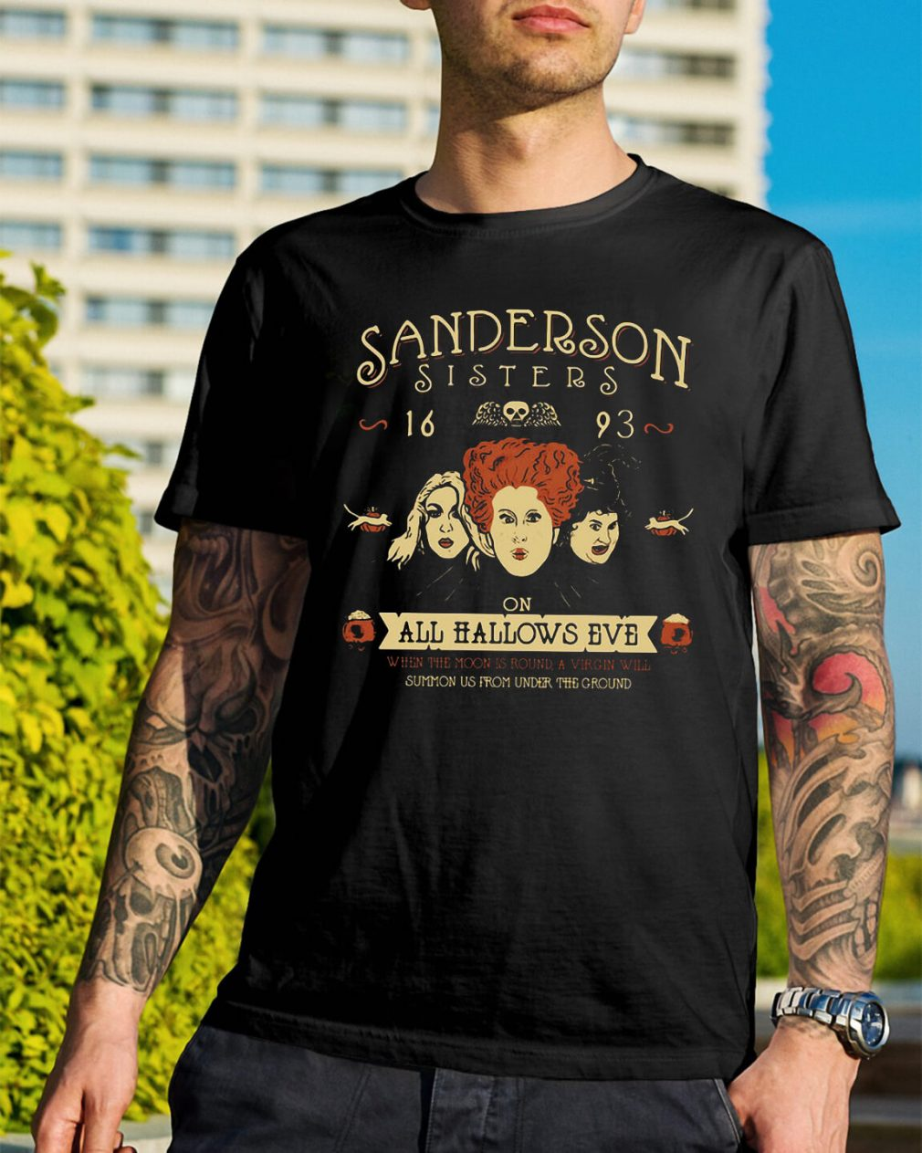 Sanderson Sisters 16 93 on all Hallows Eve shirt