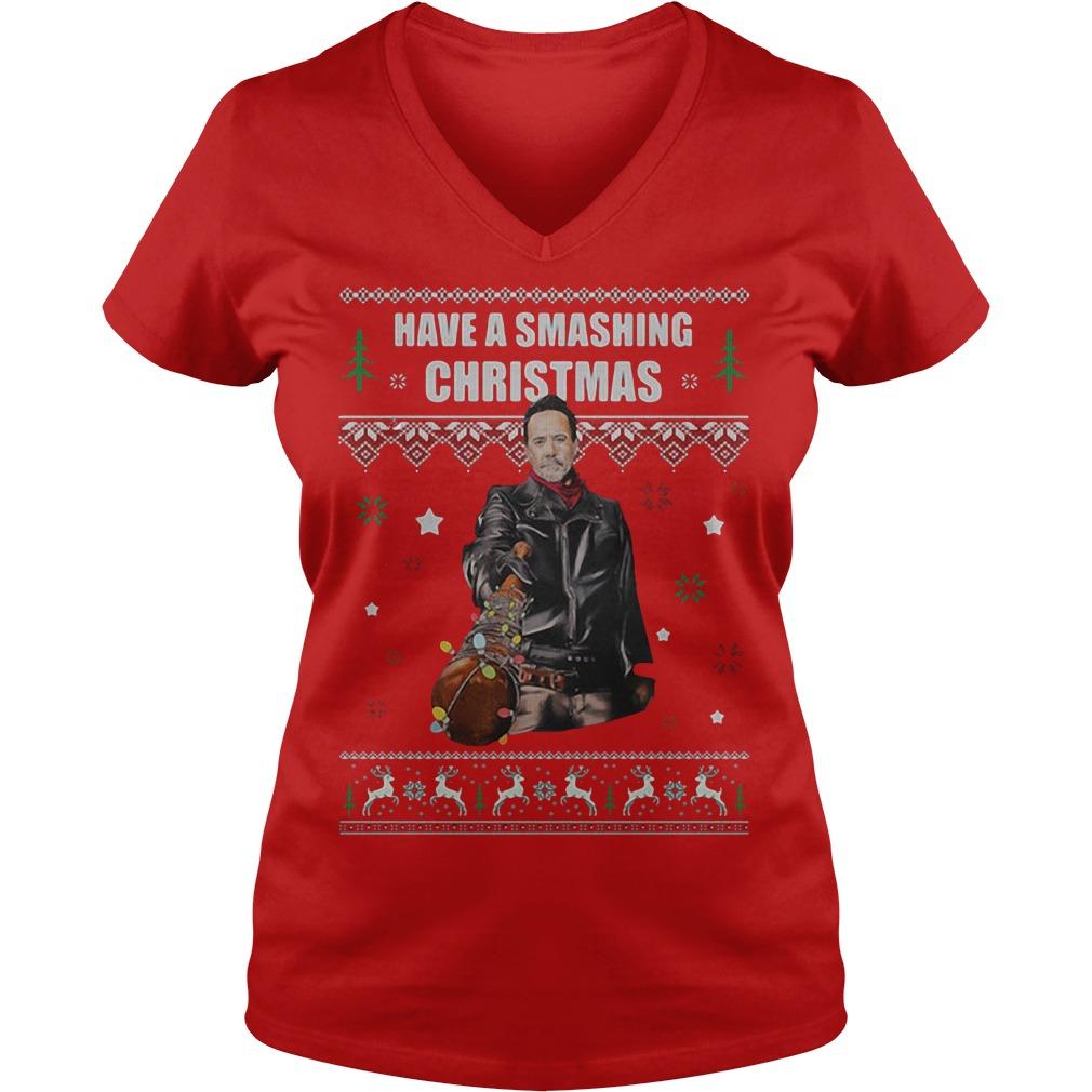Have a Smashing Christmas V-neck T-shirt