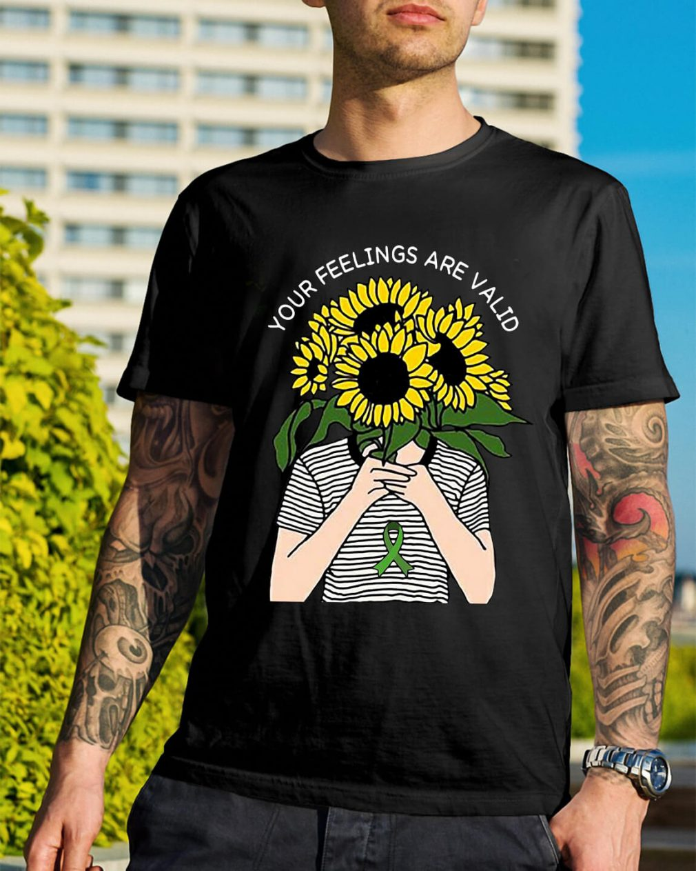 Sunflower your feelings are valid shirt
