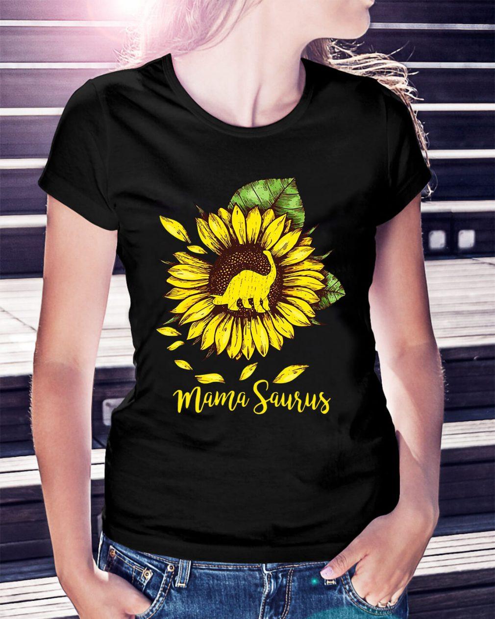 Sunflower Mama saurus shirt