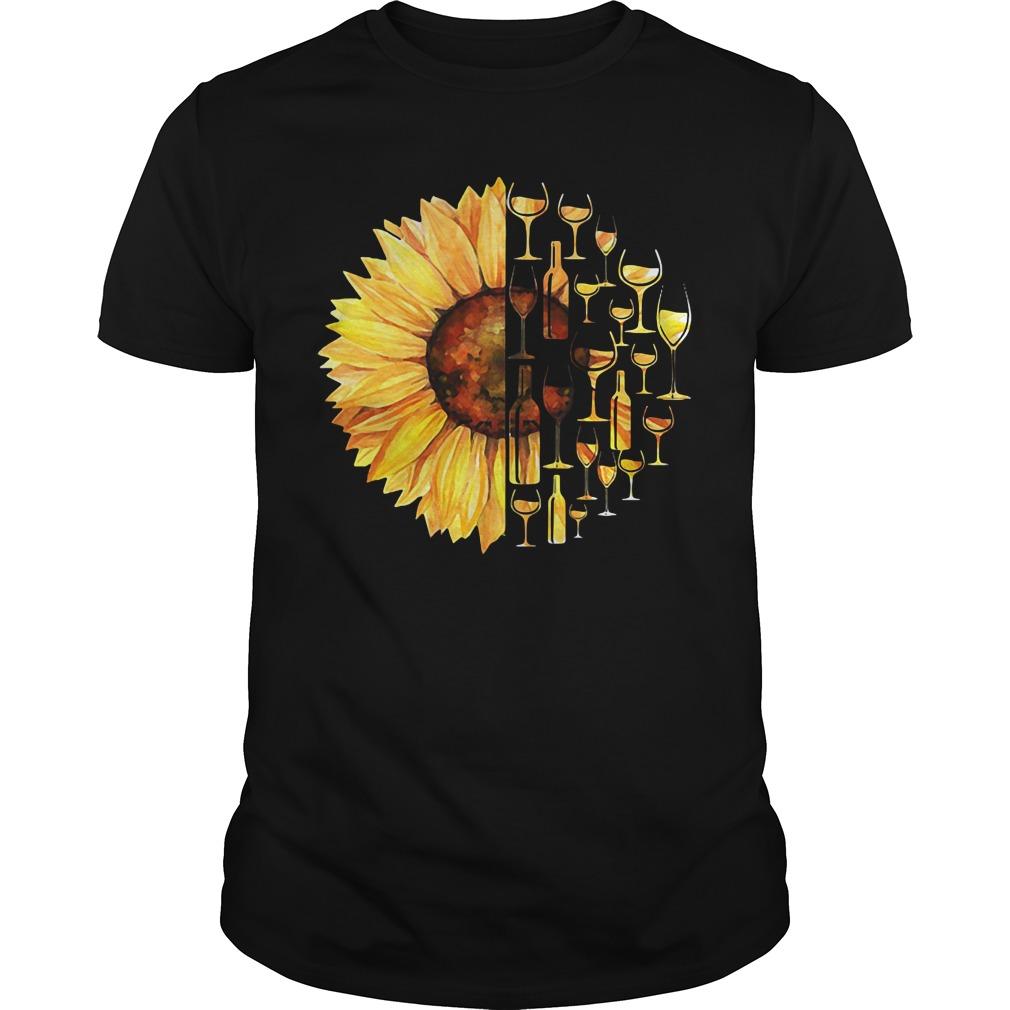 Sunflower wine glass Guys Shirt