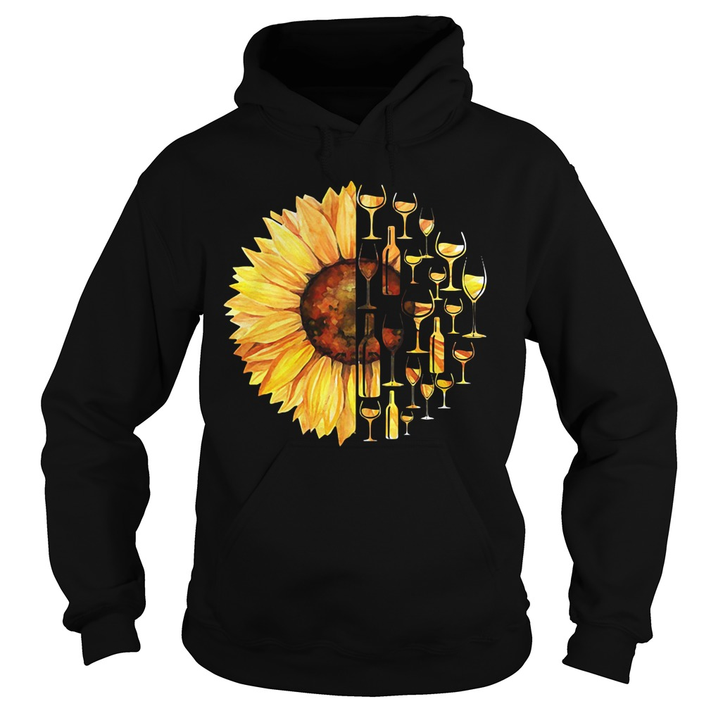 Sunflower wine glass Hoodie