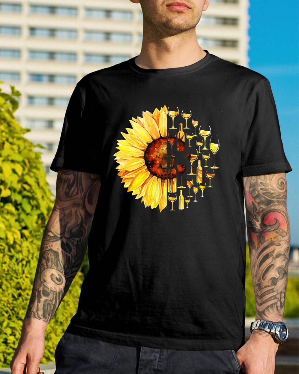 Sunflower wine glass shirt
