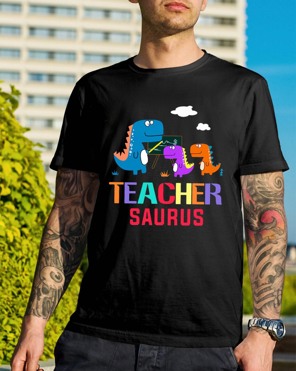 Teacher Saurus shirt