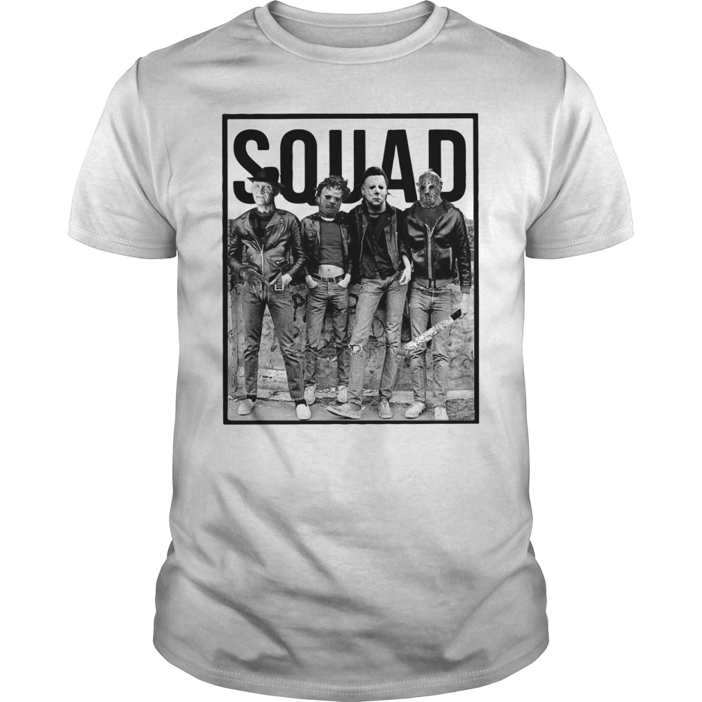 The Nightmare Ends on Halloween Squad Guys Shirt