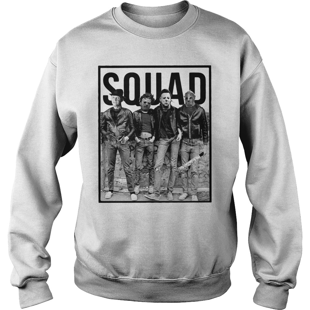 The Nightmare Ends on Halloween Squad Sweater