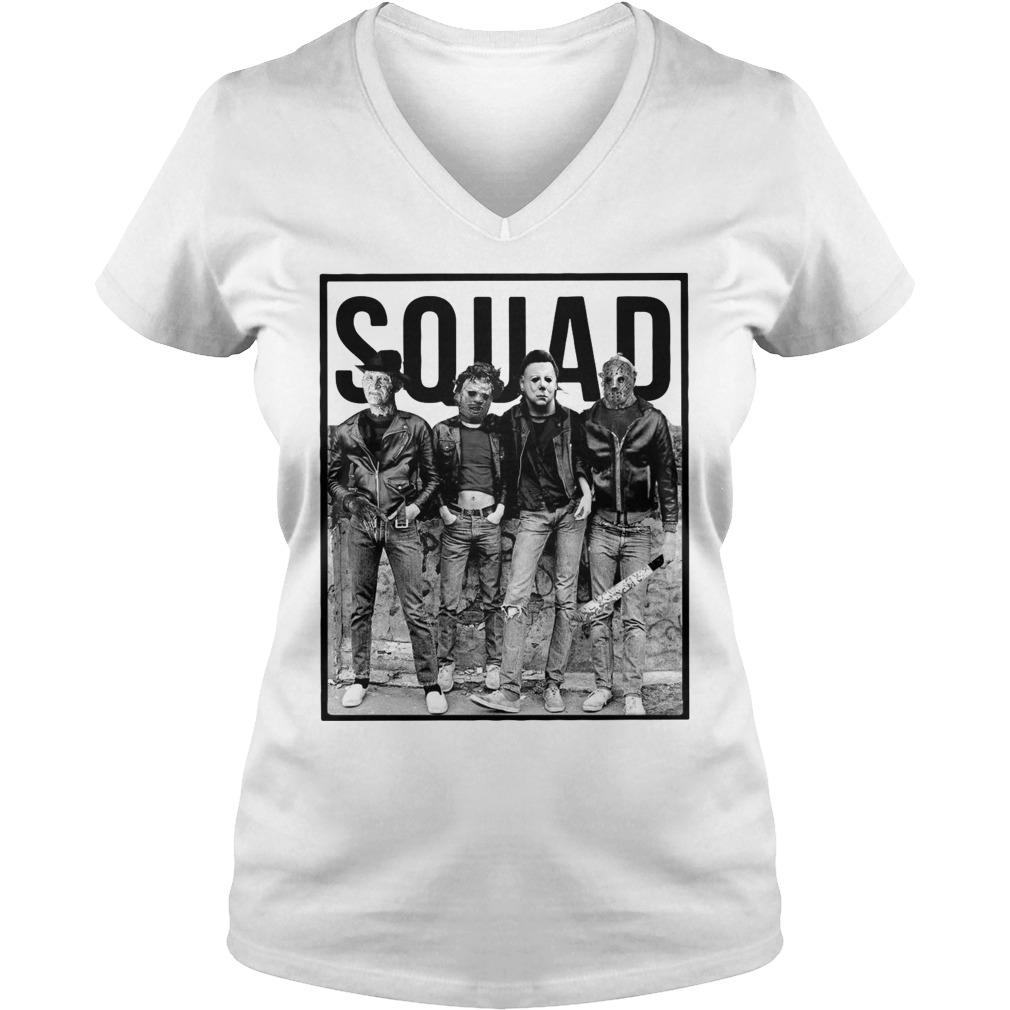 The Nightmare Ends on Halloween Squad V-neck T-shirt