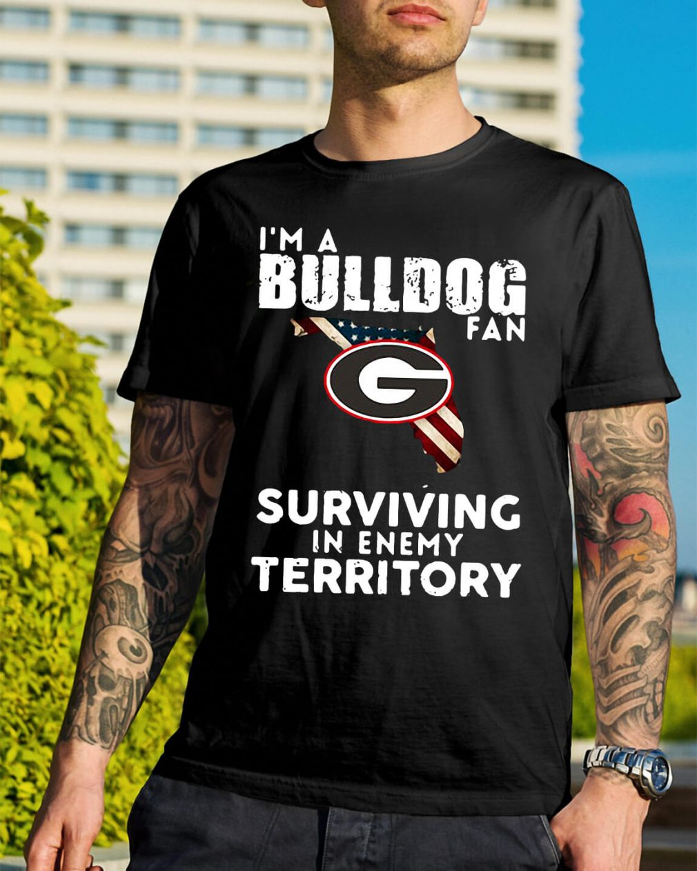 University of Georgia I'm a Bulldog fan Surviving Territory shirt