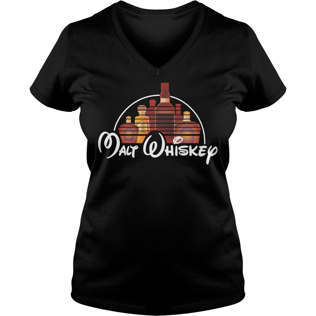 Walt Disney Malt Whiskey V-neck T-shirt