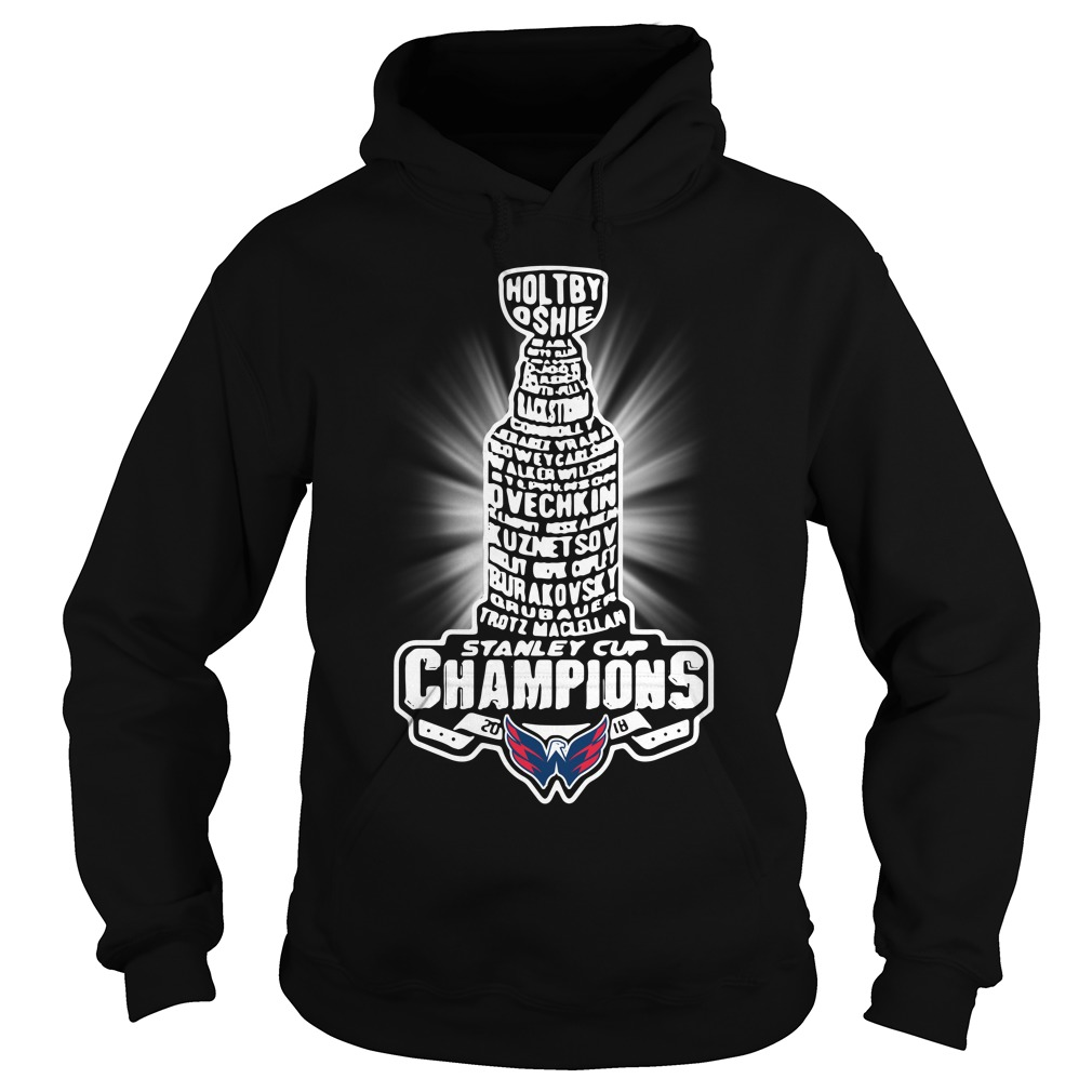Washington Capitals 2018 NHL Stanley cup champion Hoodie