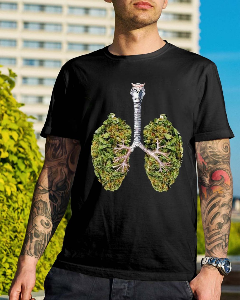 Weed lungs shirt