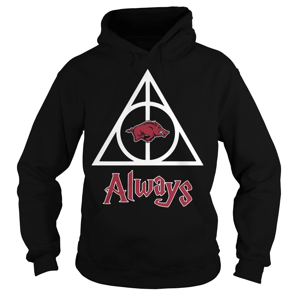 Arkansas Razorbacks Deathly Hallows Always Harry Potter Hoodie