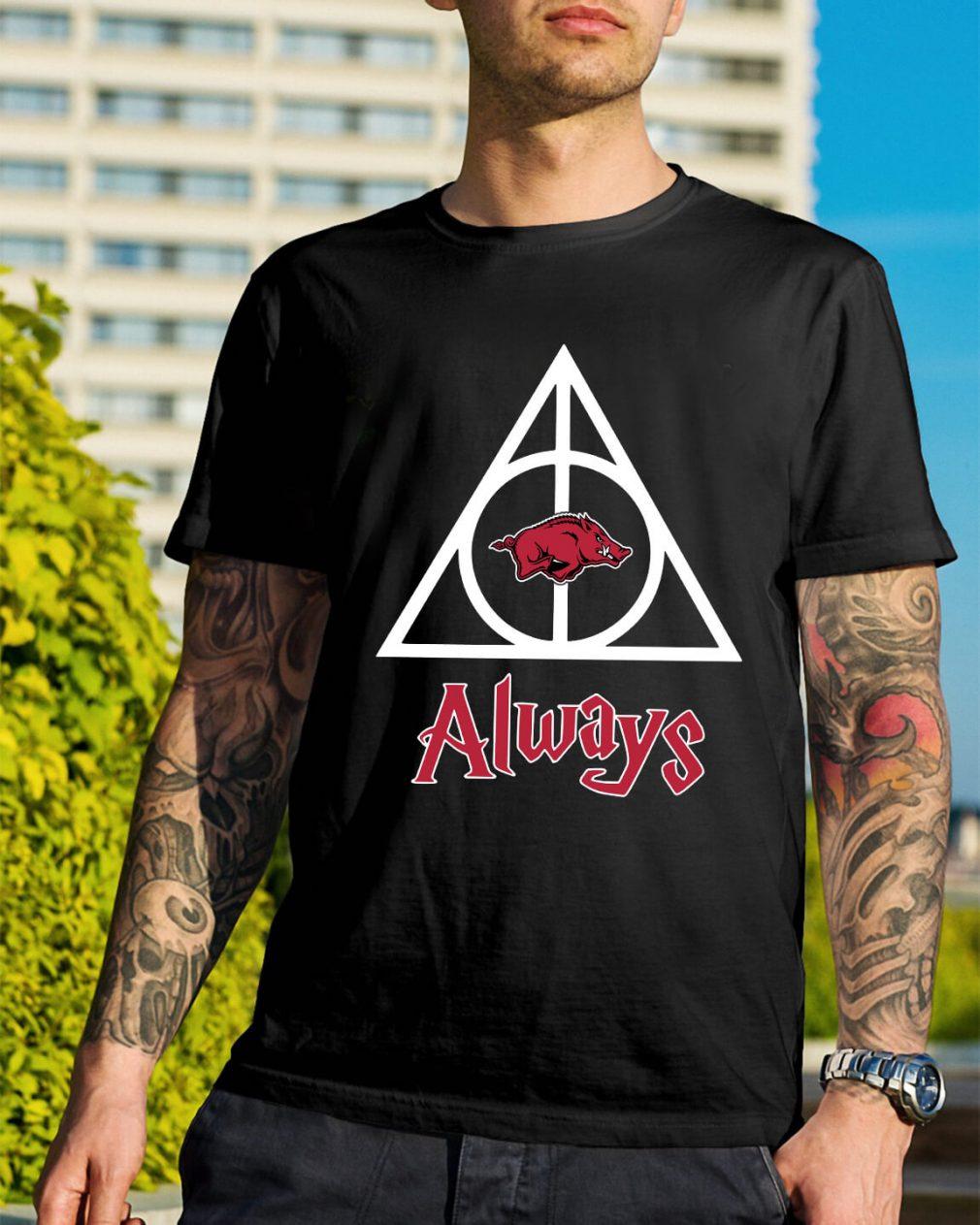 Arkansas Razorbacks Deathly Hallows Always Harry Potter shirt