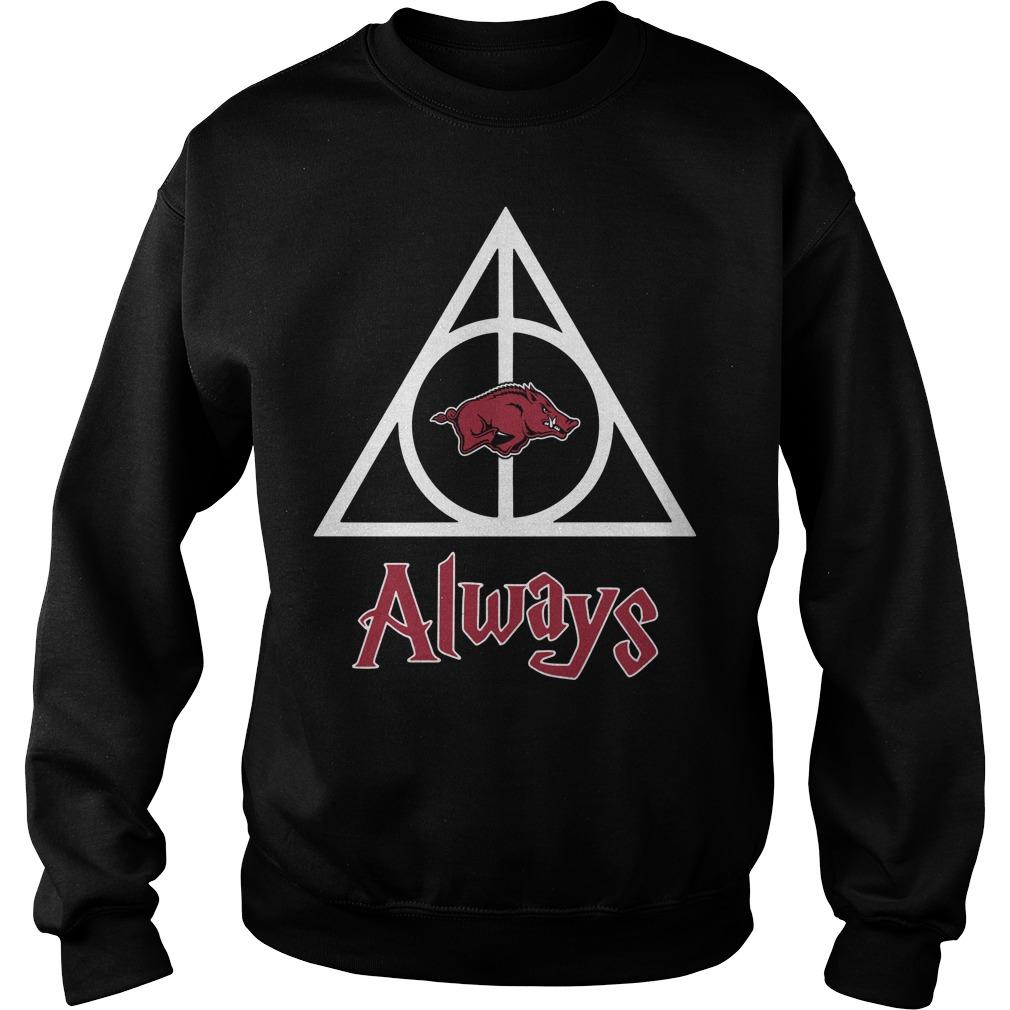 Arkansas Razorbacks Deathly Hallows Always Harry Potter Sweater