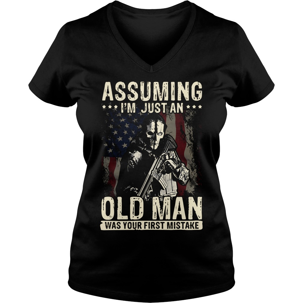 Assuming I'm just an old man was your first mistake V-neck T-shirt