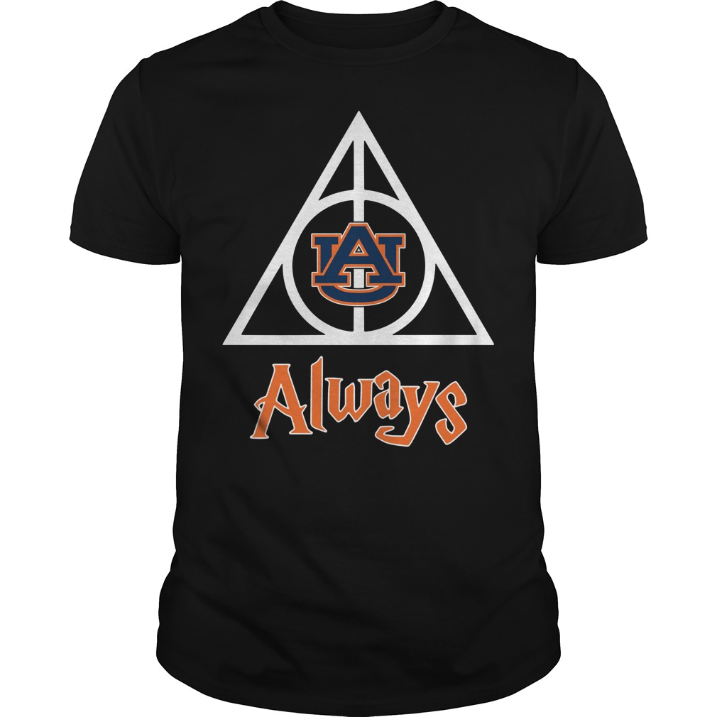 Auburn University Deathly Hallows always Harry Potter Guys Shirt