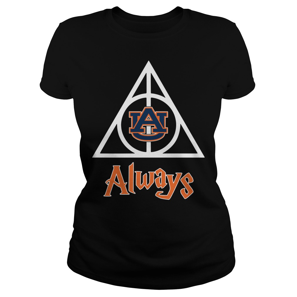 Auburn University Deathly Hallows always Harry Potter Ladies Tee
